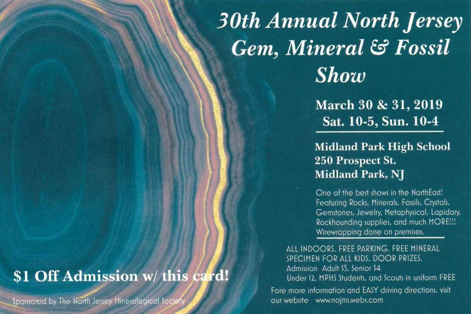 North Jersey Gem, Mineral & Fossil Show « Friends of